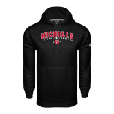 Under Armour Black Performance Sweats Team Hood-Nicholls University