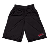 Performance Black 9 Inch Short w/Pockets-Geaux Colonels-Sword