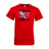 Red T Shirt-Cross Country Winged Shoe
