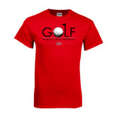 Red T Shirt-Golf w/ Ball and Flag