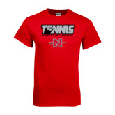 Red T Shirt-Tennis w/ Player