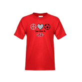 Youth Red T Shirt-Soccer Just Kick It