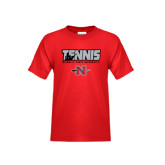 Youth Red T Shirt-Tennis w/ Player