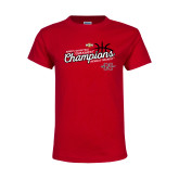 Youth Red T Shirt-2018 Womens Basketball Champions