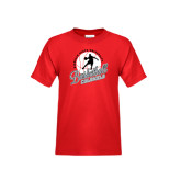 Youth Red T Shirt-Basketball w/ Ball and Figure