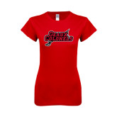 Next Level Ladies SoftStyle Junior Fitted Red Tee-Geaux Colonels-Sword