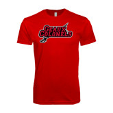 SoftStyle Red T Shirt-Geaux Colonels-Sword