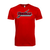 SoftStyle Red T Shirt-Nicholls Colonels-Sword
