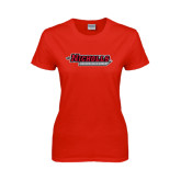 Ladies Red T Shirt-Nicholls Colonels