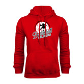 Red Fleece Hood-Basketball w/ Ball and Figure