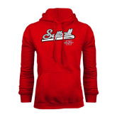 Red Fleece Hood-Softball Script