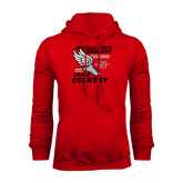 Red Fleece Hood-Cross Country Winged Shoe