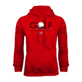 Red Fleece Hood-Golf w/ Ball and Flag