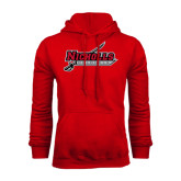 Red Fleece Hood-Nicholls Colonels-Sword