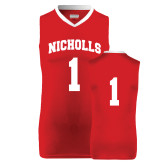 Youth Replica Red Basketball Jersey-#1