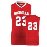 Youth Replica Red Basketball Jersey-#23