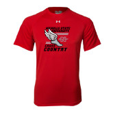Under Armour Red Tech Tee-Cross Country Winged Shoe