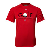 Under Armour Red Tech Tee-Golf w/ Ball and Flag