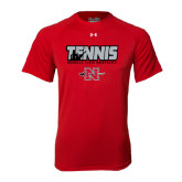 Under Armour Red Tech Tee-Tennis w/ Player