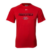 Under Armour Red Tech Tee-Track & Field Stacked