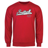 Red Fleece Crew-Softball Script