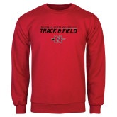Red Fleece Crew-Track & Field Stacked