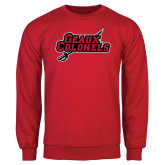 Red Fleece Crew-Geaux Colonels-Sword