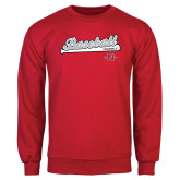 Red Fleece Crew-Baseball Script