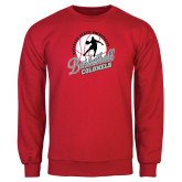 Red Fleece Crew-Basketball w/ Ball and Figure
