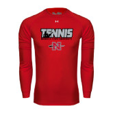 Under Armour Red Long Sleeve Tech Tee-Tennis w/ Player