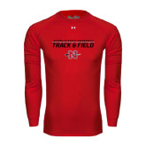 Under Armour Red Long Sleeve Tech Tee-Track & Field Stacked