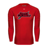 Under Armour Red Long Sleeve Tech Tee-Geaux Colonels-Sword