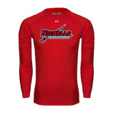 Under Armour Red Long Sleeve Tech Tee-Nicholls Colonels-Sword