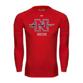 Under Armour Red Long Sleeve Tech Tee-Soccer