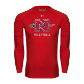 Under Armour Red Long Sleeve Tech Tee-Volleyball