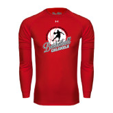 Under Armour Red Long Sleeve Tech Tee-Basketball w/ Ball and Figure