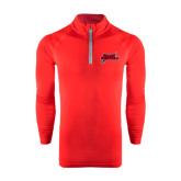 Under Armour Red Tech 1/4 Zip Performance Shirt-Geaux Colonels-Sword