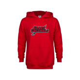 Youth Red Fleece Hoodie-Geaux Colonels-Sword