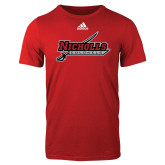 Adidas Red Logo T Shirt-Nicholls Colonels-Sword