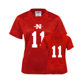 Ladies Red Replica Football Jersey-#11
