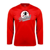 Syntrel Performance Red Longsleeve Shirt-Basketball w/ Ball and Figure