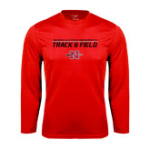 Syntrel Performance Red Longsleeve Shirt-Track & Field Stacked