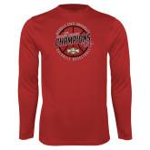 Performance Red Longsleeve Shirt-2018 Mens Basketball Champions