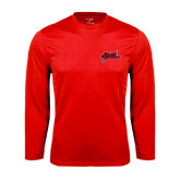 Syntrel Performance Red Longsleeve Shirt-Geaux Colonels-Sword