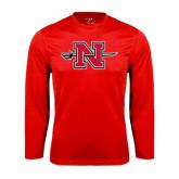 Performance Red Longsleeve Shirt-Official Logo