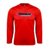 Performance Red Longsleeve Shirt-Nicholls Colonels