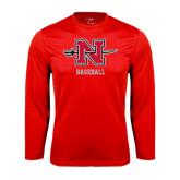Syntrel Performance Red Longsleeve Shirt-Baseball