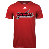 Adidas Climalite Red Ultimate Performance Tee-Nicholls Colonels-Sword