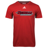 Adidas Climalite Red Ultimate Performance Tee-Nicholls Colonels
