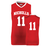 Replica Red Adult Basketball Jersey-#11